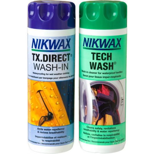 Pack lessive et imperméabilisant Gore-Tex Twin Loft et Wash-in 300ml Nikwax