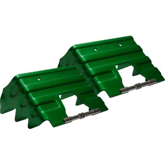Couteaux 120mm vert pour fixation Plum