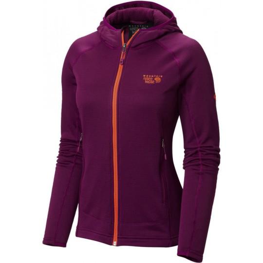 Polaire à capuche femme Desna Grid Hooded Jacket Dark-Raspberry Mountain Hardwear