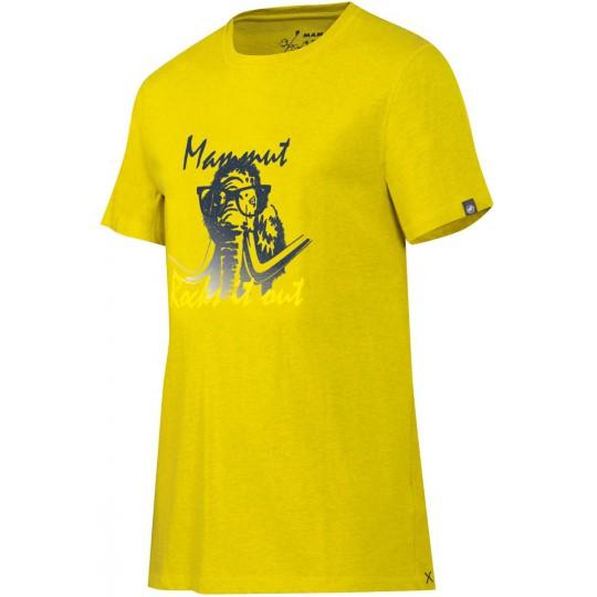 Tee-shirt coton biologique homme Massone jaune salamander Mammut
