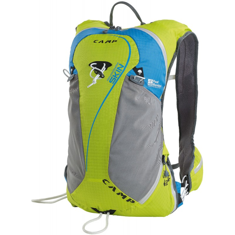 sac dos ski de rando campack skin 15 vert bleu camp montania sport. Black Bedroom Furniture Sets. Home Design Ideas