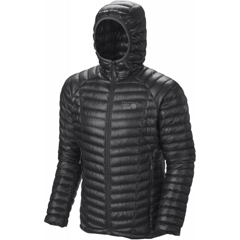 doudoune capuche homme ghost whisperer hooded down jacket noire mountain hardwear montania sport. Black Bedroom Furniture Sets. Home Design Ideas