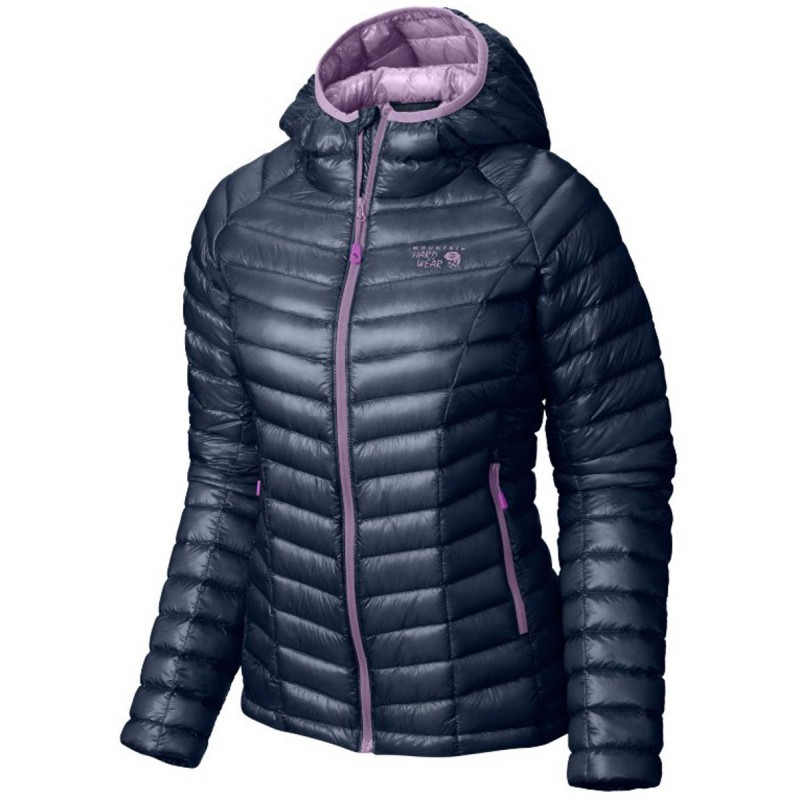 doudoune capuche femme ghost whisperer hooded down jacket zinc phantom purple mountain. Black Bedroom Furniture Sets. Home Design Ideas