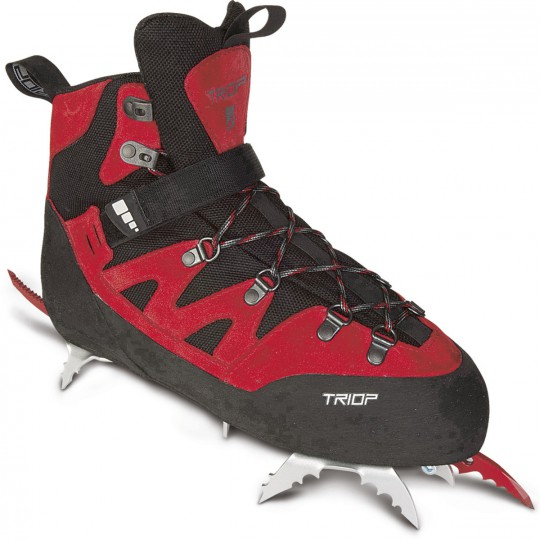 Chaussure Dry-Tooling Capoeira Ice rouge avec crampons Triop