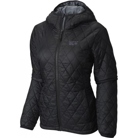 Doudoune à capuche synthétique femme Thermostatic Hooded Jacket noire graphite Mountain Hardwear