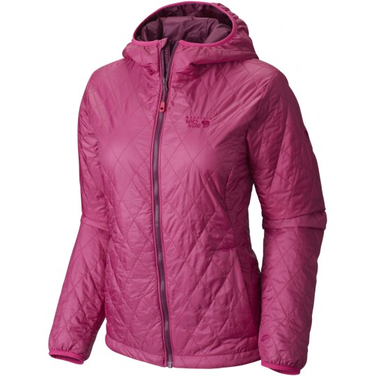 Doudoune à capuche synthétique femme Thermostatic Hooded Jacket Deep Blush Mountain Hardwear
