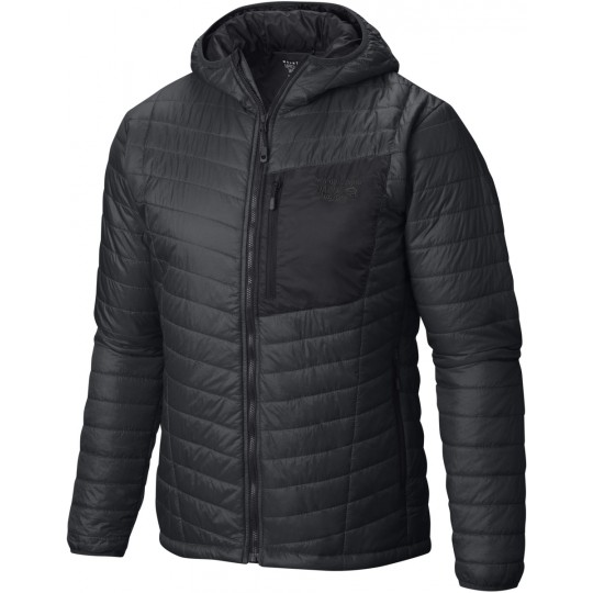 Doudoune à capuche synthétique homme Thermostatic Hooded Jacket 014 shark-black Mountain Hardwear