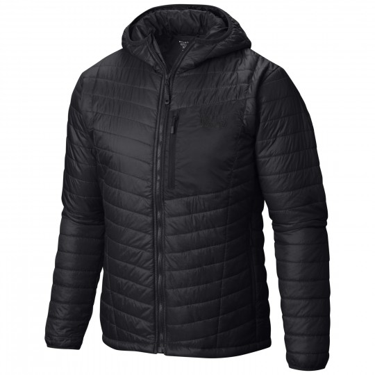 Doudoune à capuche synthétique homme Thermostatic Hooded Jacket 091 black-shark Mountain Hardwear