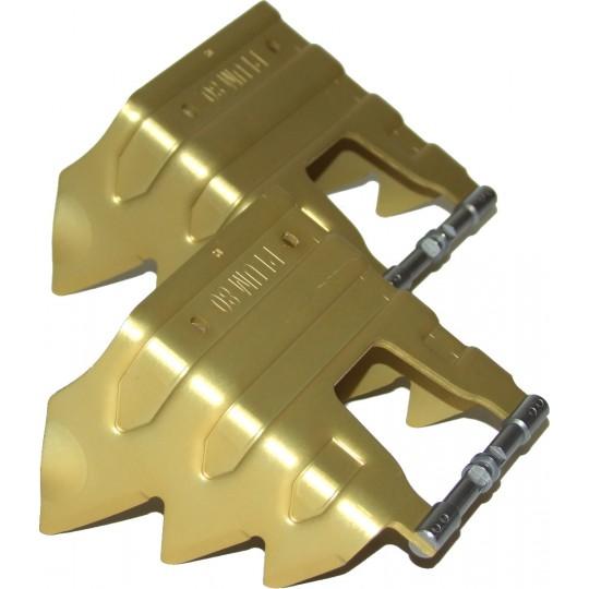 Couteaux 80mm jaune pour Fixation Plum