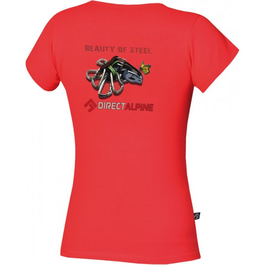Tee-Shirt femme escalade Flash Lady Tee red - beauty of steel DirectAlpine