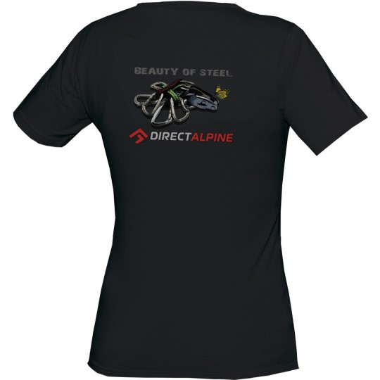 Tee-Shirt femme escalade Flash Lady Tee black - beauty of steel DirectAlpine