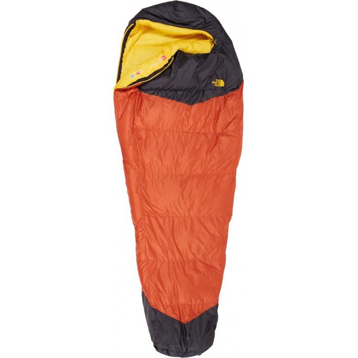 Sac de couchage plume Gold Kazoo LNG 2016 orange-gris The North Face