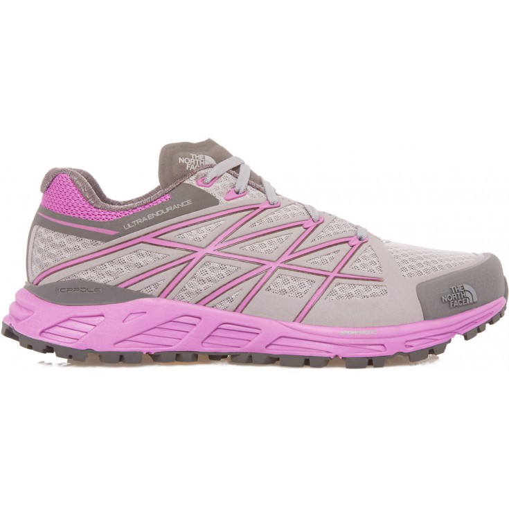 2404265ff2 Chaussures basse femme Ultra Endurance grise-rose The North Face
