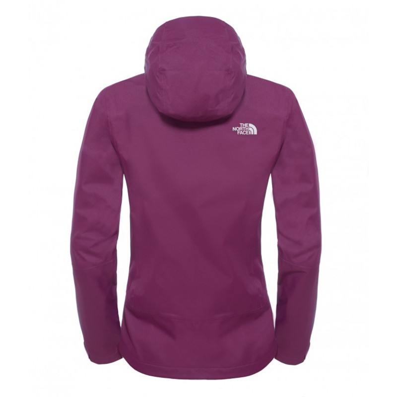 veste de randonn e imperm able femme pursuit jacket pamplona purple the north face montania sport. Black Bedroom Furniture Sets. Home Design Ideas