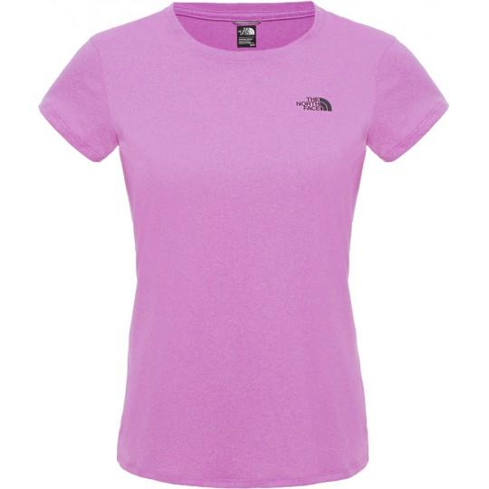 Tee shirt de randonnée respirant femme Reaxion AMP Crew sweet violet The North Face