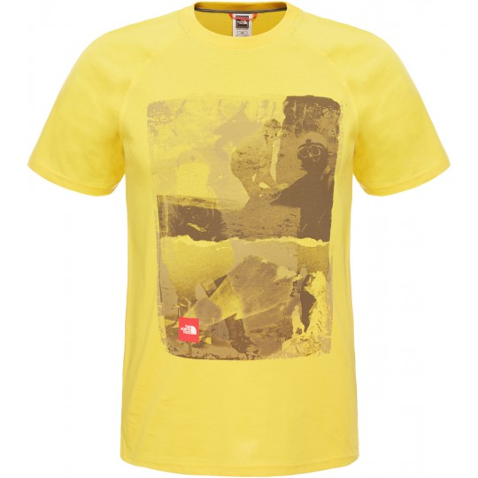 Tee shirt coton homme History Tee jaune Freesia The North Face
