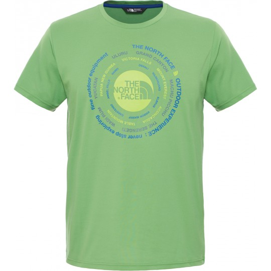 Tee shirt respirant homme Technical Expedition Tee vert Flashlight The North Face