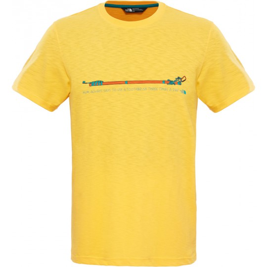 Tee shirt coton homme List to Mom Tee jaune citrus The North Face