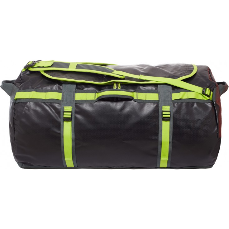 Base Camp Duffel L noir et vert The North Face