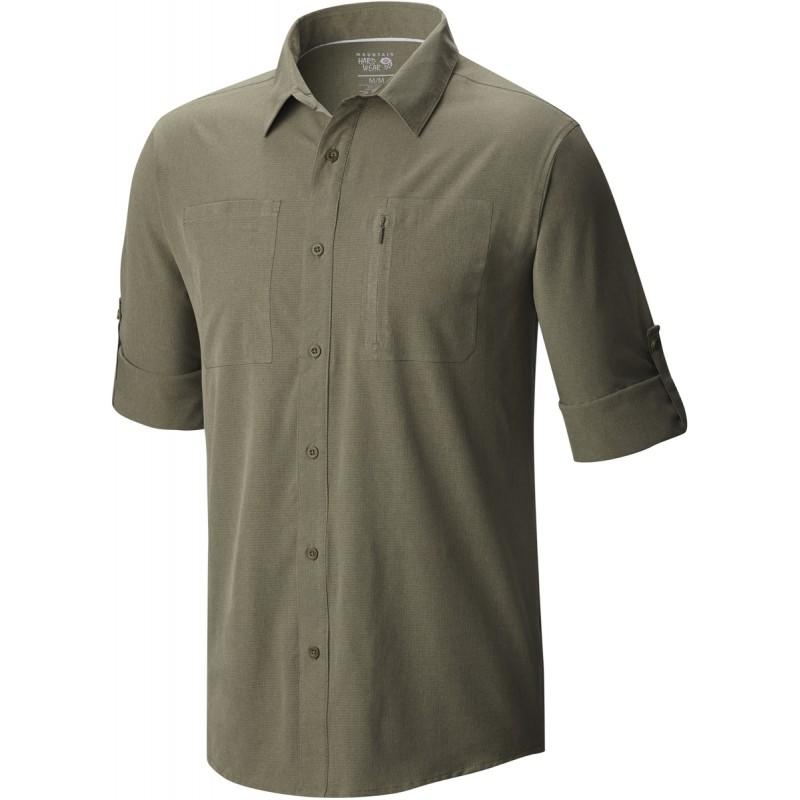 chemise de randonn e homme air tech ls shirt vert kaki. Black Bedroom Furniture Sets. Home Design Ideas