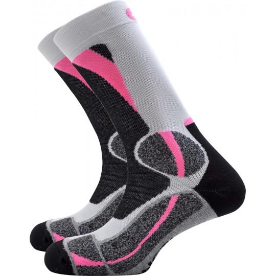 Chaussettes de randonnée femme Trek Expert gris-rose Monnet