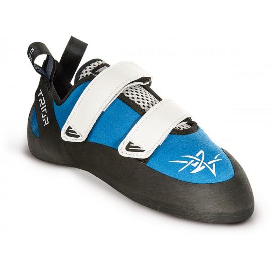 Chausson escalade velcro Tango bleu Triop