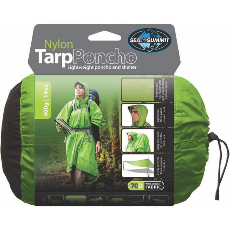 Poncho Tarp Nylon 70D vert SeaToSummit