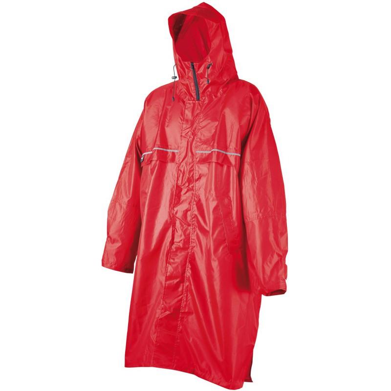 meilleur service très loué acheter en ligne Poncho de randonnée imperméable Rain Stop Front Zip rouge...