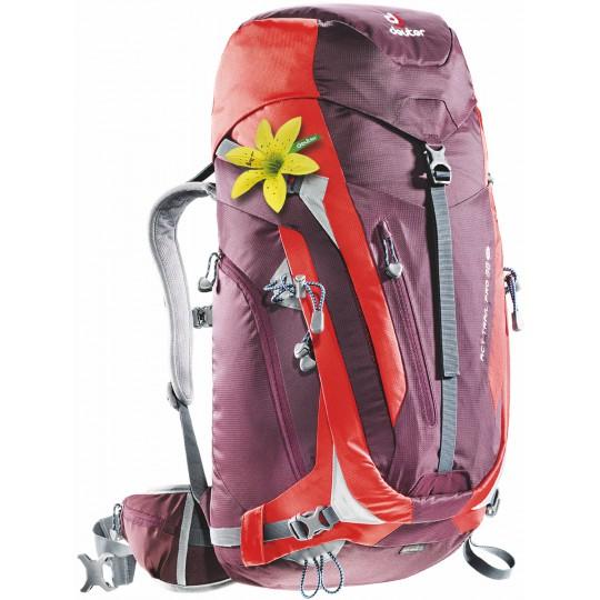 Sac à dos femme ACT Trail PRO 38 SL aubergine-rouge Deuter