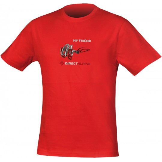 Tee-shirt grimpe homme CRACK Tee MY FRIEND rouge DirectAlpine