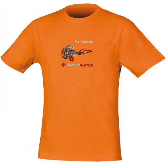 Tee-shirt grimpe homme CRACK Tee MY FRIEND orange DirectAlpine