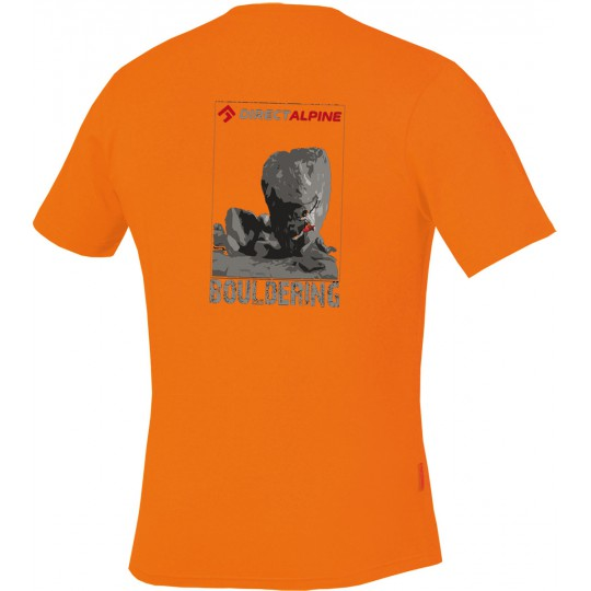 Tee-shirt homme escalade FLASH Tee 3.0 BOULDERING orange DirectAlpine