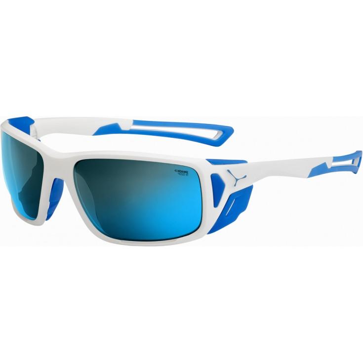 Lunettes de soleil PROGUIDE blanc-bleu 4000 Mineral Blue Cébé