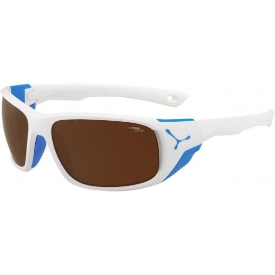 Lunettes de soleil JORASSES L blanc mat-bleu 2000 Brown Cébé