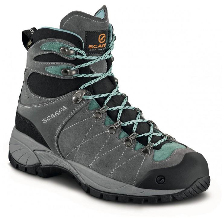 Scarpa Chaussures R-Evo Femme GORE-TEX Smoke-Jade - Chaussures Chaussures-de-randonnee