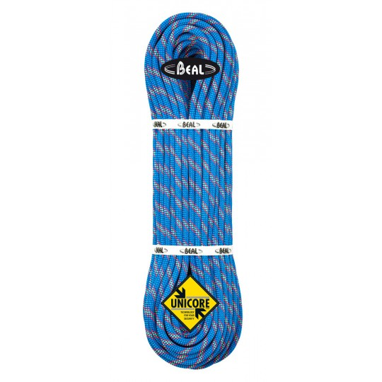 Corde 80m Booster III 9.7 Unicore Drycover Bleu Beal