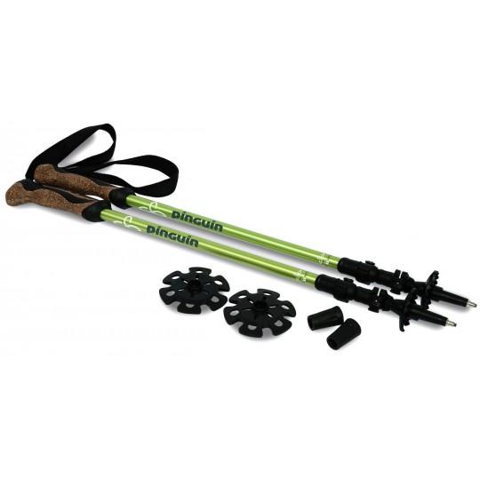 Bâtons de randonnée télescopiques liège Ascent Light FL Cork vert Pinguin Outdoor Equipment