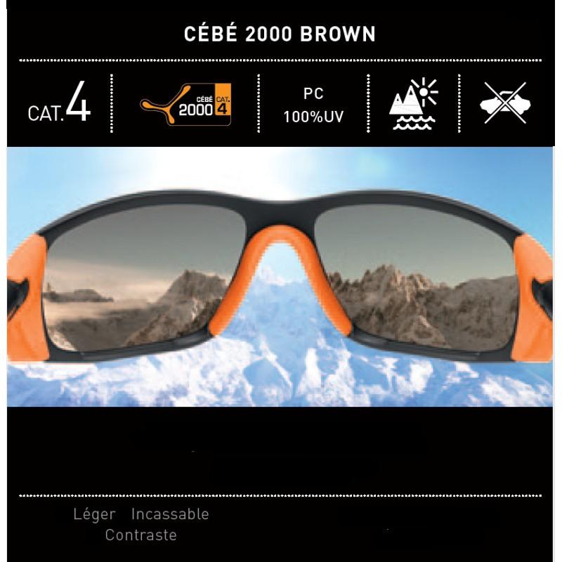 Lunettes de soleil CAT 4 ICE 8000 gris-rouge 2000 Brown MIRROR Cébé ... e397a372a4c0