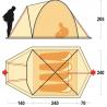 Tente de camping Shaba 4 marron-ivoire Ferrino