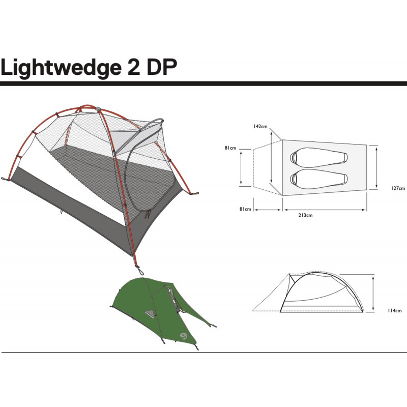 ... Toile de tente 2 places Lightwedge 2 DP verte Mountain Hardwear ...  sc 1 st  Montania Sport : mountain hardwear lightwedge 2 dp tent - memphite.com