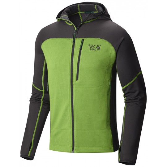 Polaire à capuche homme Desna Grid Hooded Jacket Cyber Green Mountain Hardwear