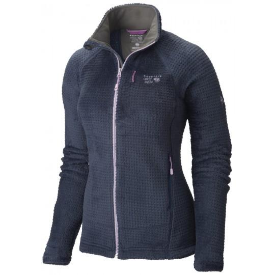 Polaire femme Monkey Woman Grid II jacket Zinc-Phantom Purple Mountain Hardwear