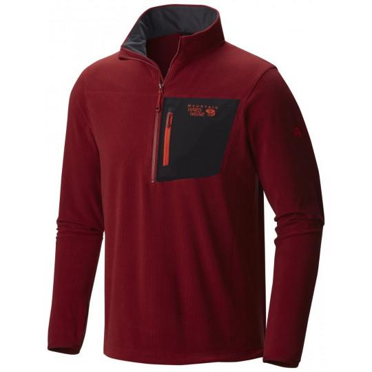 Polaire homme Strecker Lite Jacket 1/4 Zip Dark Fire Mountain Hardwear