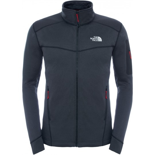 Polaire homme Hadoken Full Zip Jacket noire Black Heather The North Face