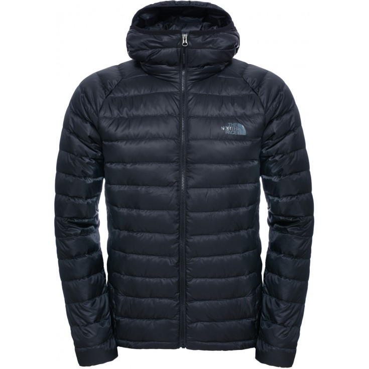 doudoune capuche homme trevail hoodie noire tnf black the north face montania sport. Black Bedroom Furniture Sets. Home Design Ideas