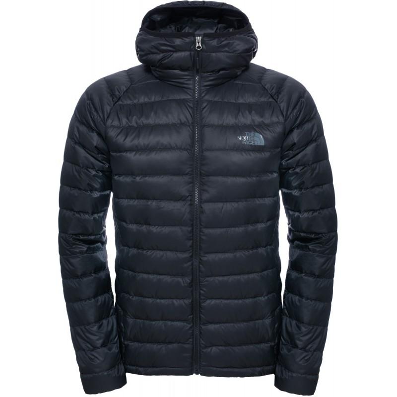 doudoune capuche homme trevail hoodie noire tnf black the north face montania sport. Black Bedroom Furniture Sets. Home Design Ideas