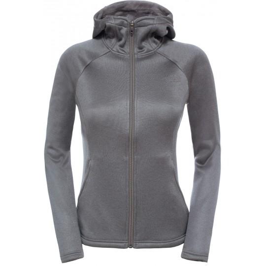 Veste polaire à capuche femme Agave Hoodie Rabbit Grey Heather The North Face