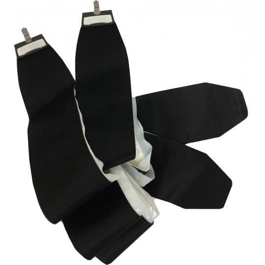 Set Peaux Kohla Mixte FISCHER 90mm noires 190cm x 110mm à tailler