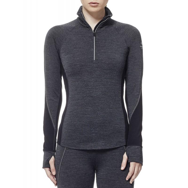 acheter populaire 5e004 3b2f6 Tee-shirt laine Merino femme ML 260 WINTER ZONE LS HZ 1/4 ...