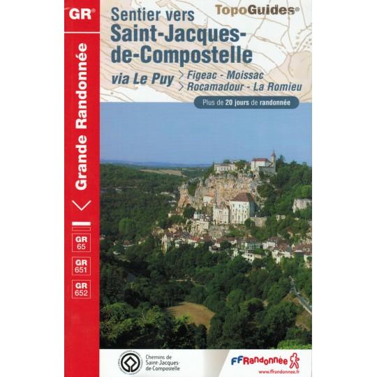 Livre TopoGuides Sentier vers Saint-Jacques-de-Compostelle FIGAC-MOISSAC-GR65-651-652 - FFRandonnée